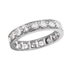 Platinum Diamond Eternty Wedding Band - #742