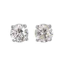 14KT White Gold Diamond Stud Earrings - #1648
