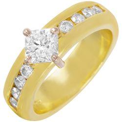18KT Yellow Gold Diamond Engagement Ring - #284