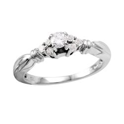 14KT White Gold Diamond Engagement Ring - #735