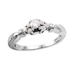 14KT White Gold Diamond Engagement Ring - #735