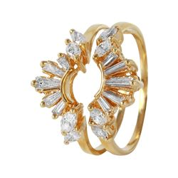 14KT Yellow Gold Diamond Ring Guard - #501A