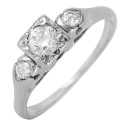 Platinum Diamond Engagement Ring - #287
