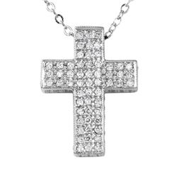14KT White Diamond Pendant and Chain - #2020