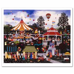 Candied Apples and Candy Corn Limited Edition Lithograph by Jane Wooster Scott, Numbered and Hand Si