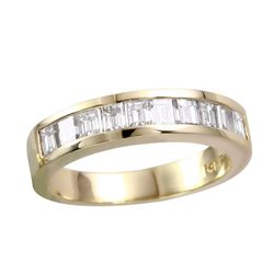 14KT Yellow Gold Diamond Wedding Band - #711A