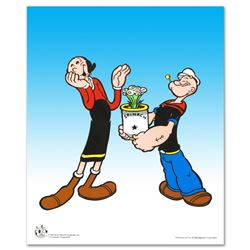 Popeye Spinach Limited Edition Popeye Sericel with Official King Features Syndicate Seal! Includes C