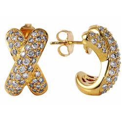 18KT Yellow Gold Diamond Earrings - #535