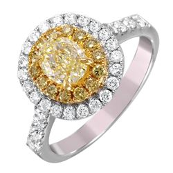 18KT White and Yellow Gold Diamond Engagement Ring - #1504