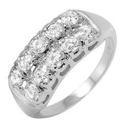 14KT White Gold Diamond Ring - #524