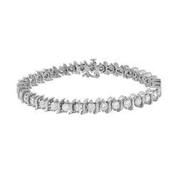 14KT White Gold Diamond Tennis Bracelet - #217