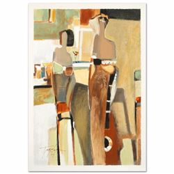 Bar Scene II Limited Edition Serigraph by the Gifted Yuri Tremler, Hand Signed with Certificate of A