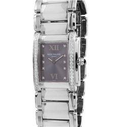 Ladies Patek Twenty-Four Stainless Steel and Diamond Watch - #1360