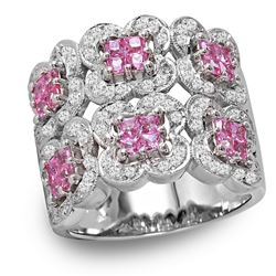 18KT White Gold Topaz and Diamond Ring - #312