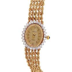 Swiss Geneve 14KT Yellow Diamond Gold Wristwatch - #819