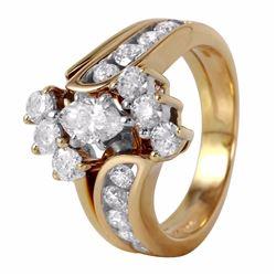 14KT Yellow Gold Diamond Engagement Ring - #529