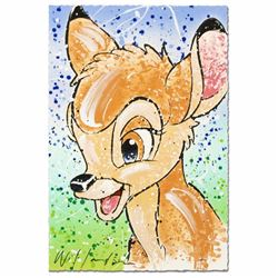 Bambi the Buck Stops Here Disney Limited Edition Serigraph by David Willardson, Numbered and Hand Si