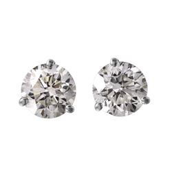 14KT White Gold Diamond Stud Earrings - #1697