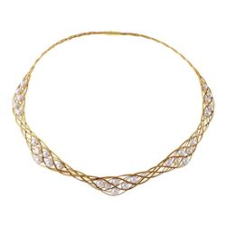 18KT Yellow Gold Vintage Pearl Necklace - #102