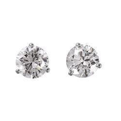 14KT White Gold Diamond Stud Earrings - #1717
