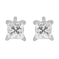 Platinum Diamond Stud Earrings - #327