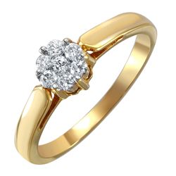 18KT Yellow Gold Diamond Ring - #1586