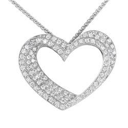 18KT White Gold Diamond Pendant and Chain - #2015-2