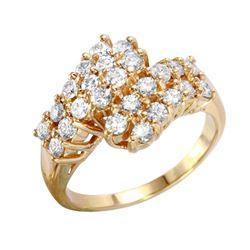 14KT Yellow Gold Diamond Ring - #1874