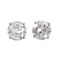 14KT White Gold Diamond Stud Earrings - #1720