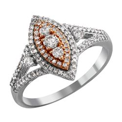 10KT White and Rose Gold Diamond Engagement Ring - #2048
