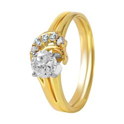 14KT Yellow Gold Diamond Engagement Ring - #222