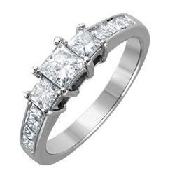 14KT White Gold Diamond Engagement Ring - #1559
