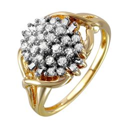 14KT Yellow Gold Cluster Ring - #147
