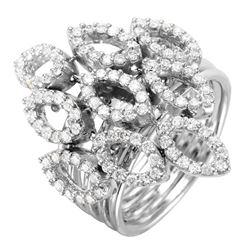 18KT White Gold Diamond Ring - #2024