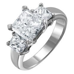 Platinum Three Stone Diamond Ring - #1591