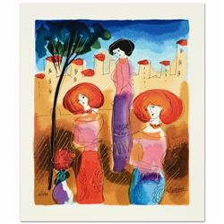 The Meeting Limited Edition Serigraph by Moshe Leider, Numbered and Hand Signed with Certificate of