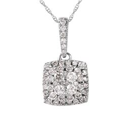 10KT White Gold Diamond Pendant and Chain - #2060