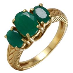 14KT Yellow Gold Emerald Ring - #19