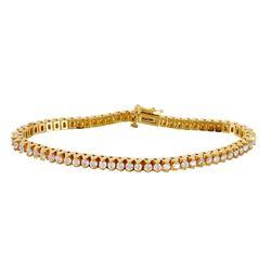 14KT Yellow Gold Diamond Bracelet - #1618