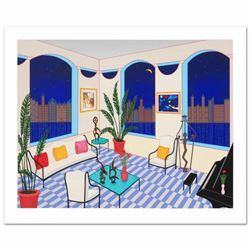 Interior with Primitive Art Limited Edition Serigraph by Fanch Ledan, Numbered and Hand Signed with