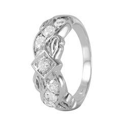 14KT White Gold Diamond Ring - #307