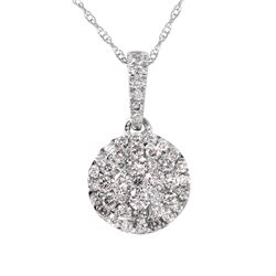 10KT White Gold Diamond Pendant and Chain - #2059