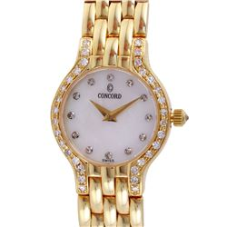 "Concord Ladies 14KT Yellow Gold Diamond ""Les Palais"" Watch - #418"