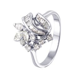 18KT White Gold Diamond Ring - #932
