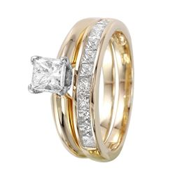 14KT White Gold Diamond Solitaire Ring - #964