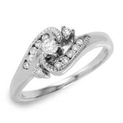 14KT White Gold Diamond Engagement Ring - #266