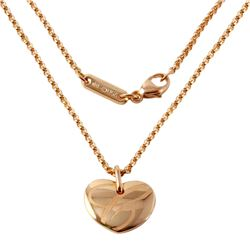 18KT Rose Gold  Chopard  Heart Pendant and Chain - #645
