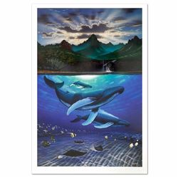 Dawn of Creation Limited Edition Lithograph by Famed Artist Wyland, Numbered and Hand Signed with Ce