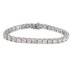14KT White Gold Diamond Bracelet - #1613