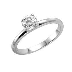 14KT White Gold Shane Co Diamond Solitaire Ring - #969